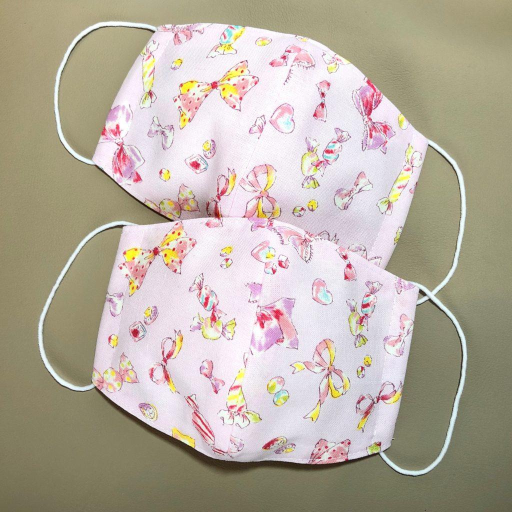 子供用ピンク布立体マスク