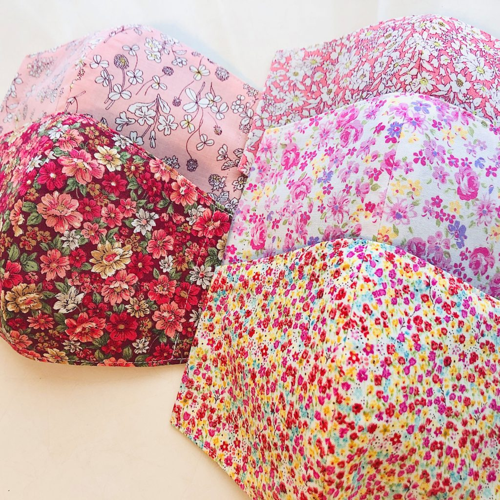 花柄立体布マスク